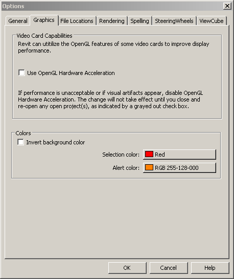 Revit Hardware Acceleration