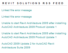 RSS Revit