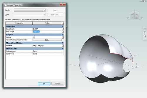 Autodesk Revit Arch 2010_Revolve with Properties Dialog