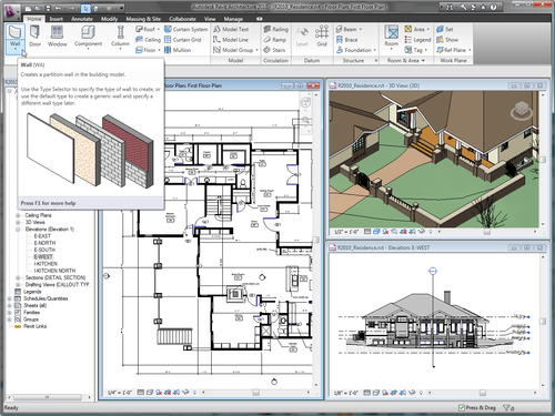 Revit 2010 User Interface