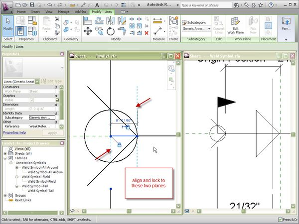 how to add weld symbol family in revit