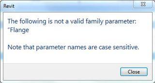 Not valid family parameter