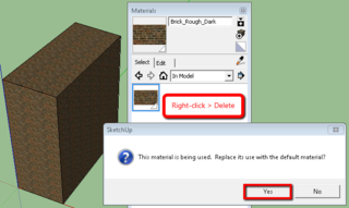 Unable to Override Imported SketchUp File Material in Revit - The